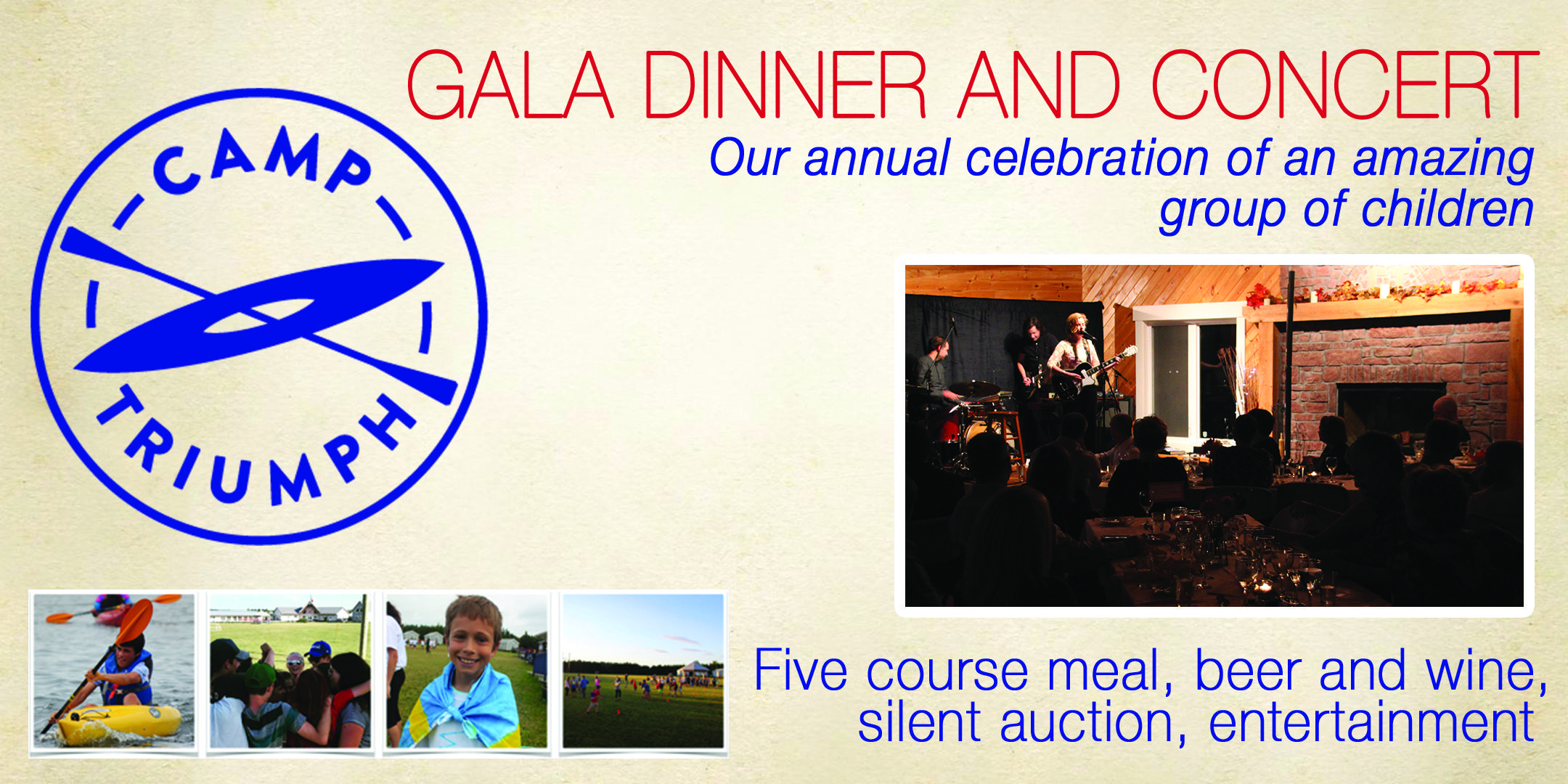 Gala Dinner in Support of Camp Triumph Society