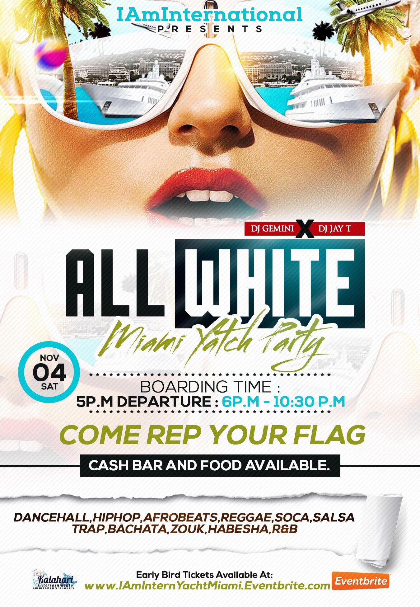 IAmInternational All White Yacht Party { Miami, FL }