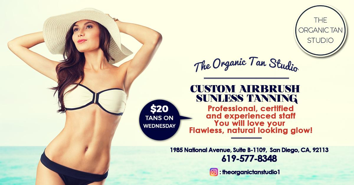 $20 Tan Wednesdays at The Organic Tan Studio. $20 Tan Wednesdays at The Organic Tan Studio