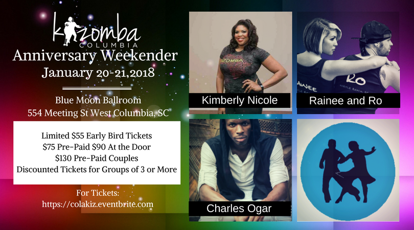 Kizomba Columbia's Anniversary Weekender