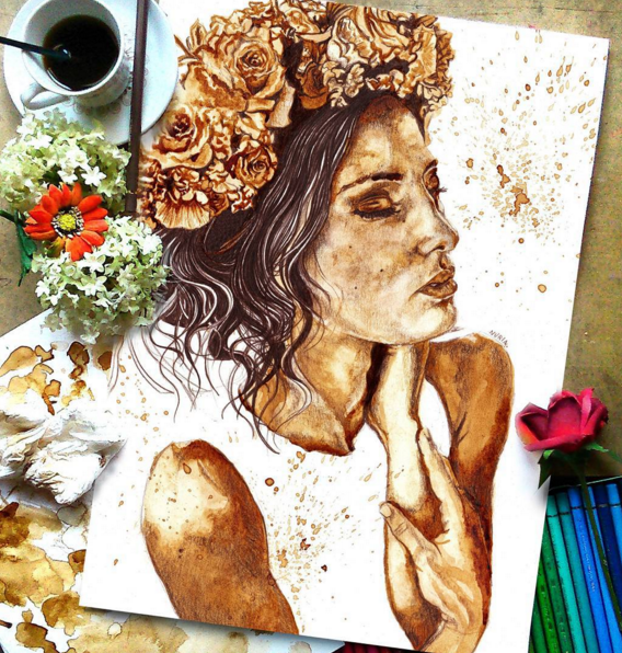 Painting With Coffee & Coffee Tasting. Painting With Coffee & Coffee Tasting