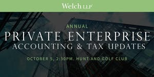 Welch LLP 2017 Annual Private Enterprise Accounting &...