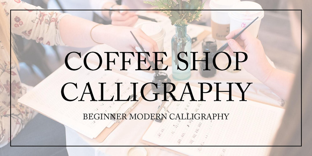 Coffee shop calligraphy beginner modern calligraphy Calligraphy store