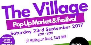 The Village - Pop Up Market, wellbeing talks +...