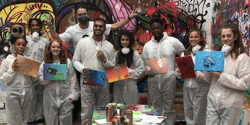 Weekend graffiti workshops at Graffik Gallery