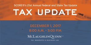 SCOREs 21st Annual Federal and State Tax Update