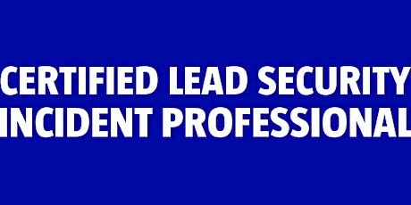Certified Lead Security Incident Professional (ISO 27035) bilhetes