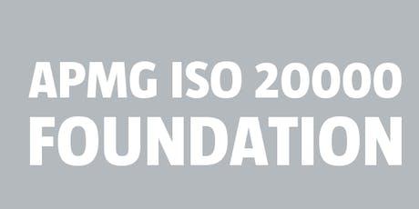 ISO 20000 Foundation | APMG bilhetes