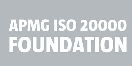 ISO 20000 Foundation | APMG tickets