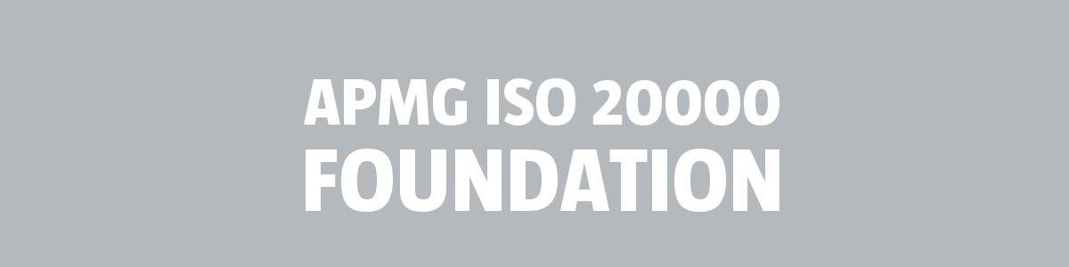 ISO 20000 Foundation | APMG