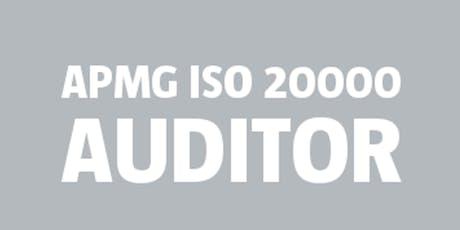 ISO 20000 Auditor | APMG bilhetes