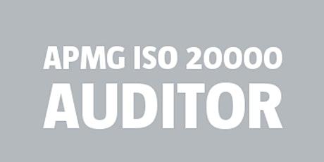 ISO 20000 Auditor   APMG bilhetes