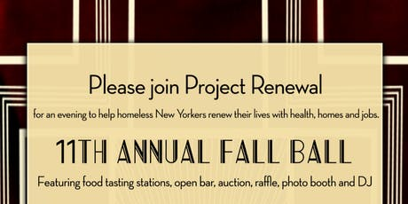 11th Annual Fall Ball benefiting Project Renewal tickets