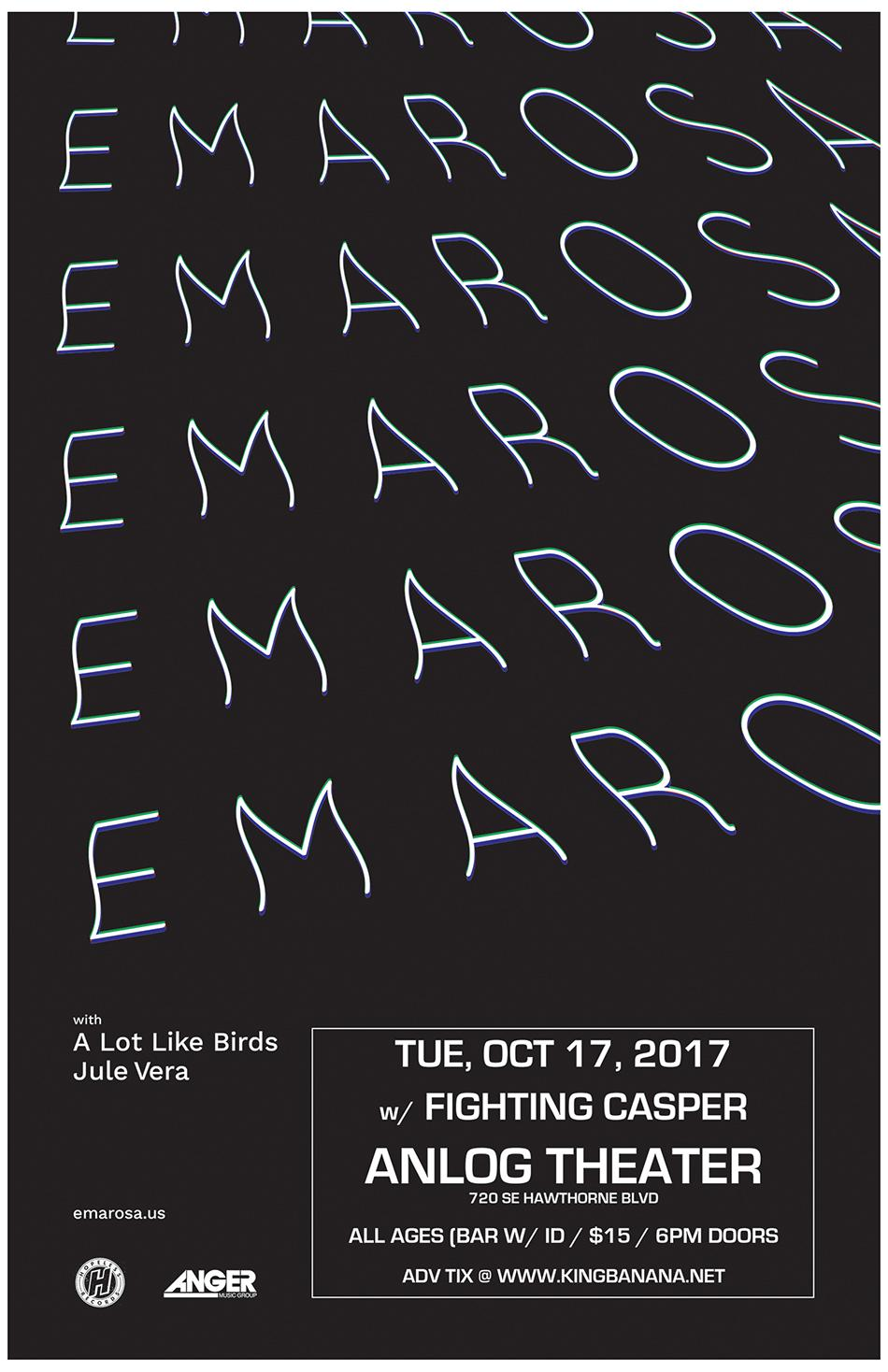 Emarosa, A Lot Like Birds *Tickets will be available at the door