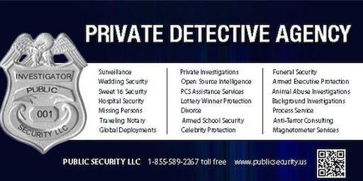 Private Detective | Former U.S. Secret Service | Maryland | New York