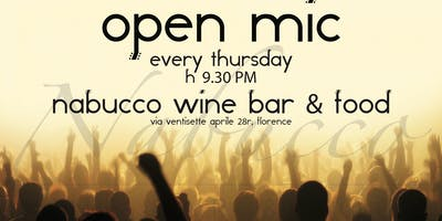 OPEN MIC IN NABUCCO WINE BAR