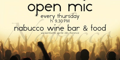 OPEN MIC IN NABUCCO WINE BAR