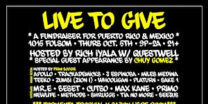 LIVE TO GIVE // A FUNDRAISER FOR PUERTO RICO & MEXICO...
