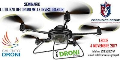Seminario L'utilizzo dei Droni nelle investigazioni