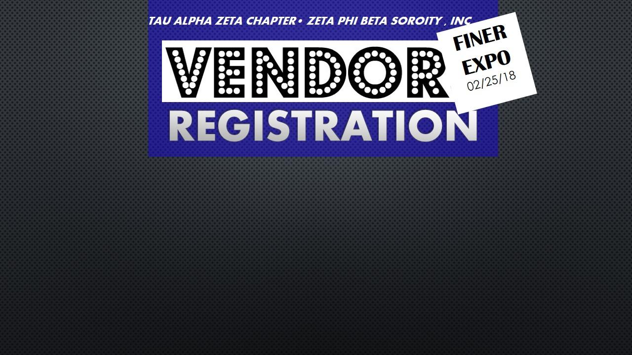 FINER EXPO VENDOR REGISTRATION