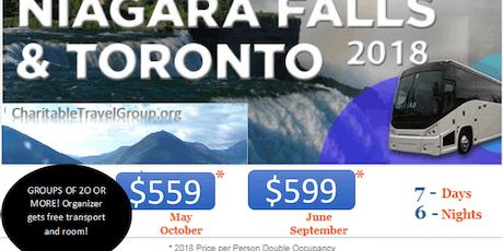 NIAGARA FALLS & TORONTO ALL INCLUSIVE LUXURY COACH TOUR tickets