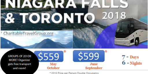 NIAGARA FALLS & TORONTO ALL INCLUSIVE LUXURY COACH TOUR