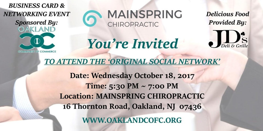 Business Card & Networking Event Tickets, Wed, Oct 18, 2017 at 5 ...