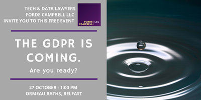 The GDPR is coming. Are you ready?