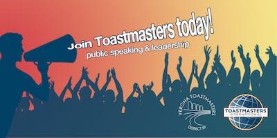 Public Speaking - Verona Toastmasters Meeting