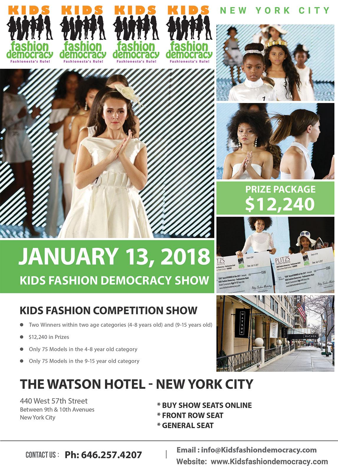 Aspiring Fashion Photographers & Videographers for KIDS Fashion Show in New York