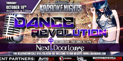 """Dance Revolution"" Thursday Karaoke by #labandaru!"