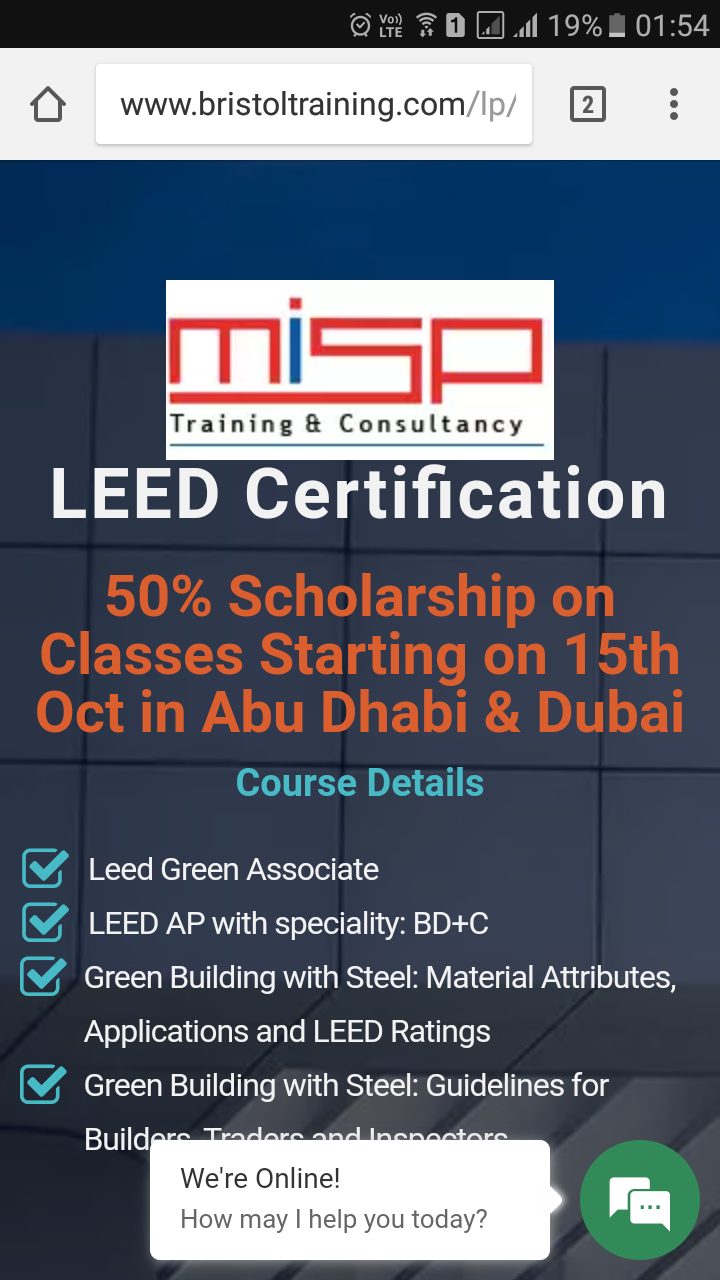 50 scholarship on leed certification classes starting in abu 50 scholarship on leed certification classes starting in abu dhabi dubai 1betcityfo Gallery