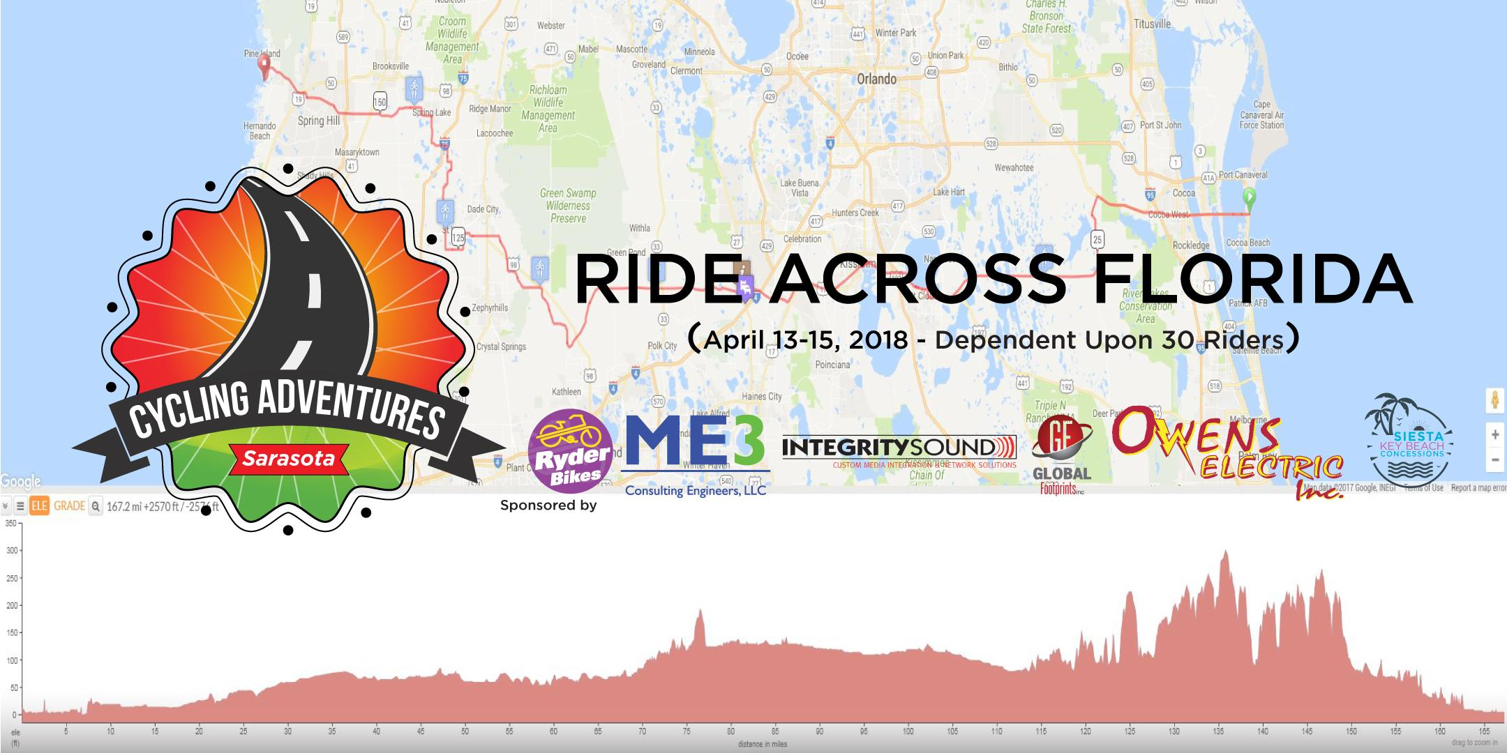 Ride Across Florida - Sarasota Cycling Adventures