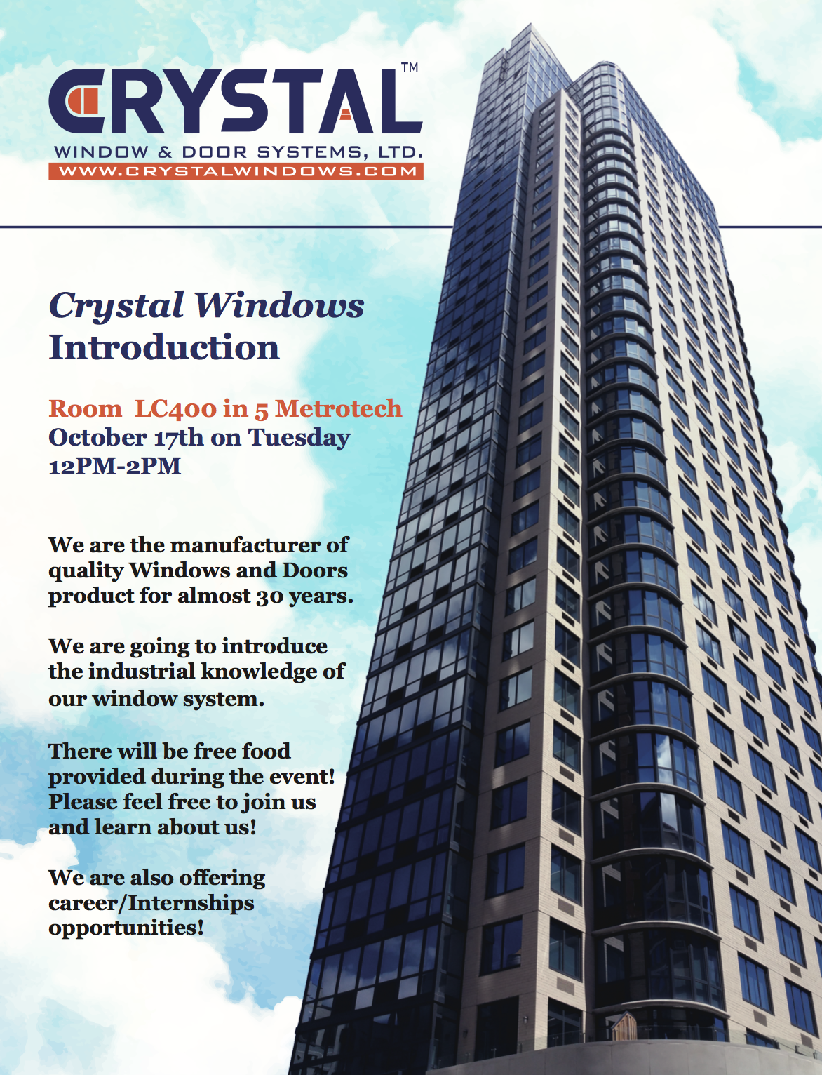Crystal Window and Door System Presentation @ - 17 OCT 2017