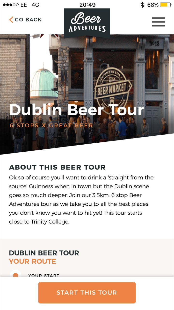 Dublin App-led Beer Tour