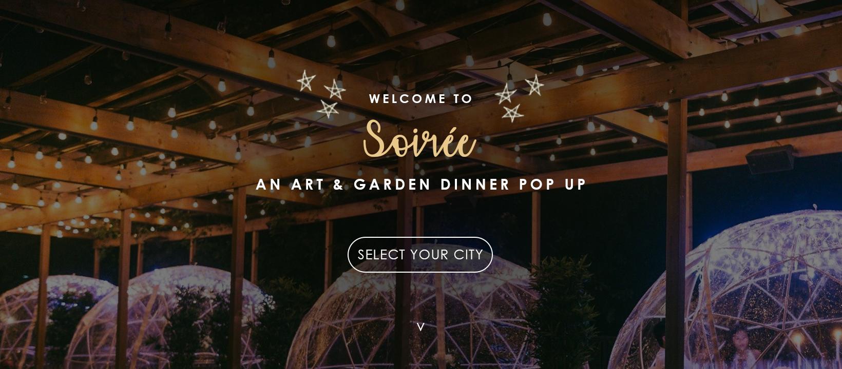 RSVP Garden Dome   April 29th - 4PM (seats 4 - 5p)