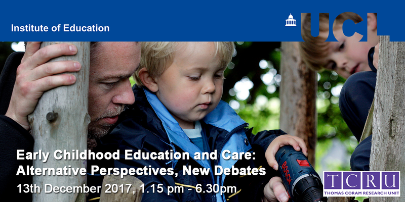 New perspectives on Early Childhoood Education: free meeting at IoE in London.