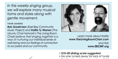 Midday Music - ongoing Group Singing classes begin this week!