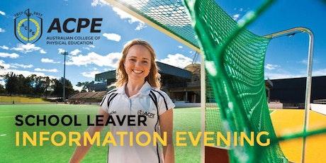 ACPE School Leaver Information Evening
