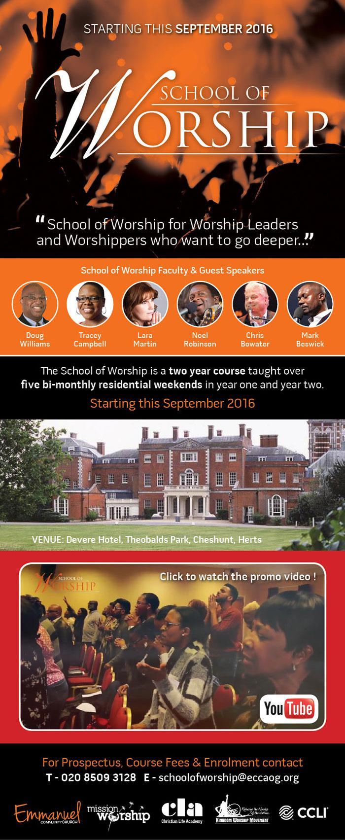 School of Worship May 2018 - John Andrews
