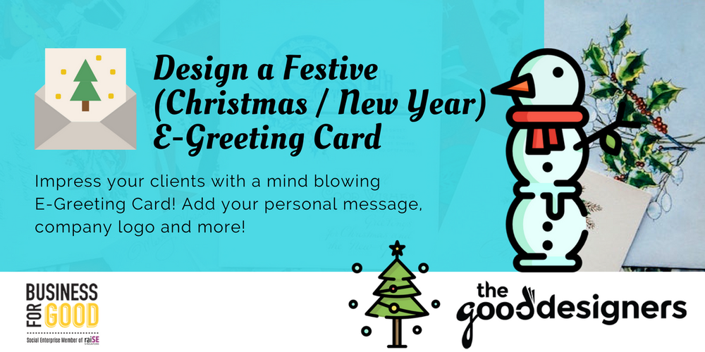 Design a Festive (Christmas / New Year) E-Greeting Card Tickets ...