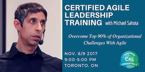 Certified Agile Leadership (CAL1) Training in Toronto