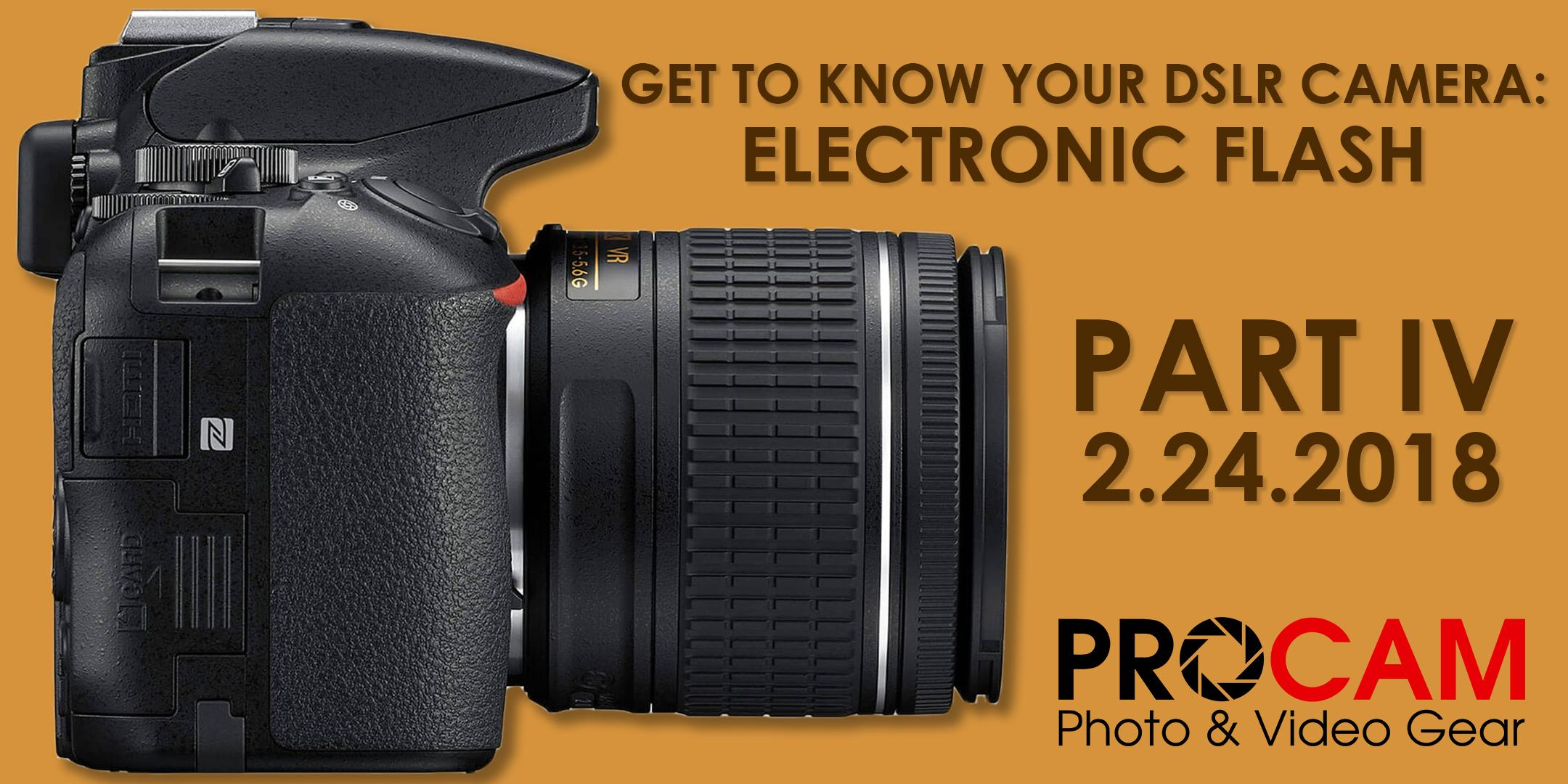 Get to know your DSLR - Part IV: Electronic F