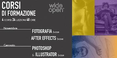Corsi di Fotografia, After Effects, Photoshop, Illlustrator.