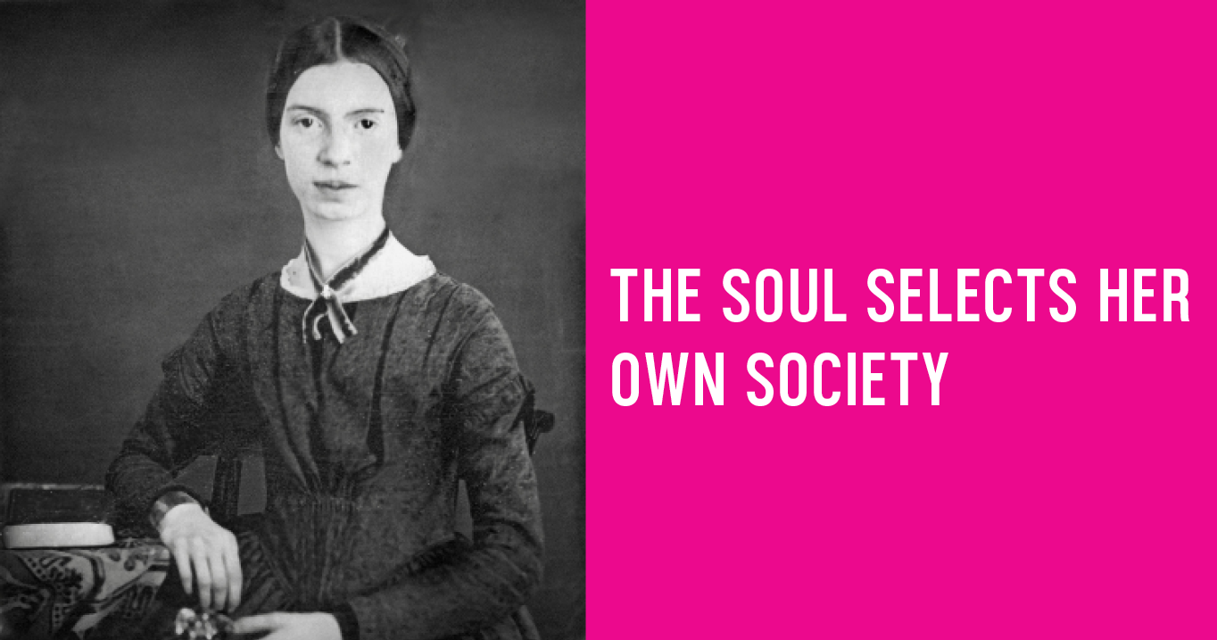 an analysis of writing techniques used in the soul selects her own society by emily dickinson The message in emily dickinson's poem the soul selects her own society is choosing one friend or love interest and excluding all others the poet makes her.