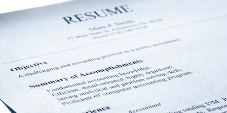 crafting an effective resume workshop tickets