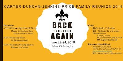 Carter duncan jenkins price reunion 2018 new orleans june friday 2 carter duncan jenkins price reunion 2018 m4hsunfo