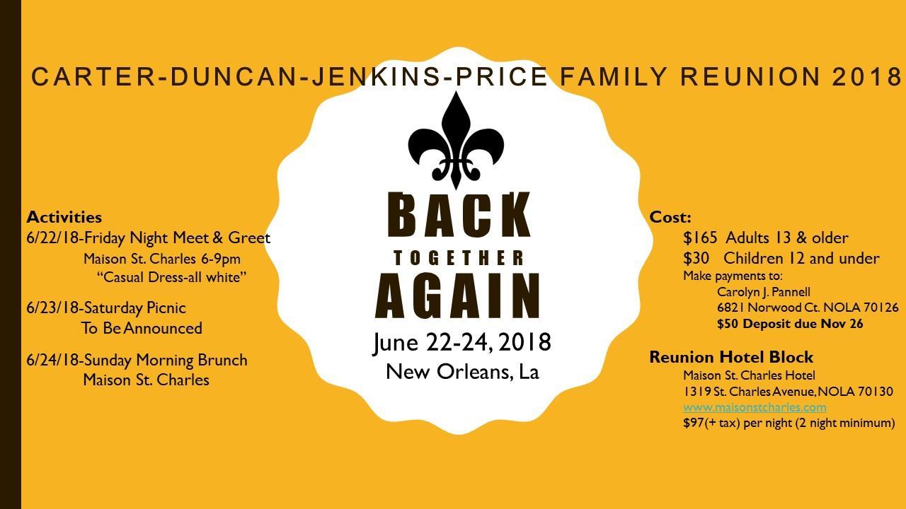 Carter duncan jenkins price reunion 2018 22 jun 2018 carter duncan jenkins price reunion 2018 m4hsunfo