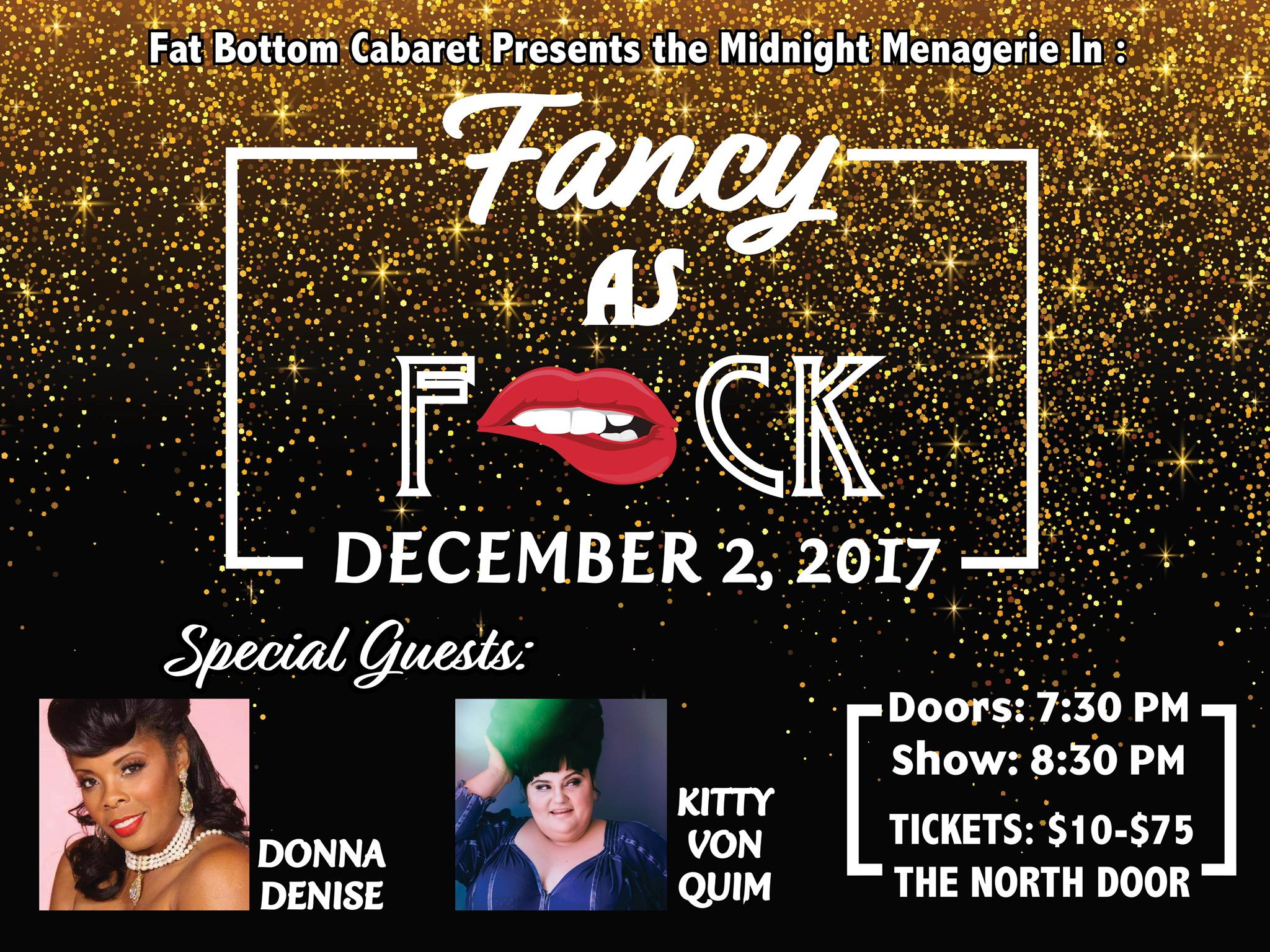 """Fat Bottom Cabaret presents: The Midnight Menagerie in """"Fancy as F*ck"""""""
