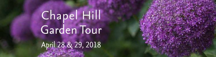 Chapel Hill Garden Tour April 28, 10:00 a.m. - 4:00 p.m. and April 29, 2018 11:00 a.m.-4:00 p.m.